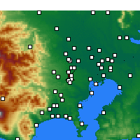 Nearby Forecast Locations - Nishitōkyō - Map
