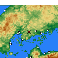 Nearby Forecast Locations - Higashihiroshima - Map
