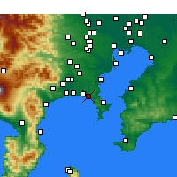 Nearby Forecast Locations - Kamakura - Map
