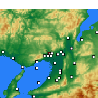 Nearby Forecast Locations - Kawanishi - Map