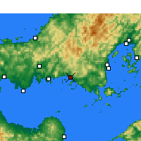 Nearby Forecast Locations - Shūnan - Map