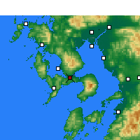 Nearby Forecast Locations - Isahaya - Map