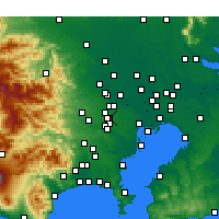 Nearby Forecast Locations - Musashino - Map