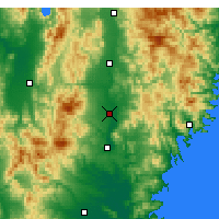 Nearby Forecast Locations - Ōshū - Map