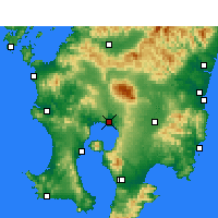 Nearby Forecast Locations - Kirishima - Map
