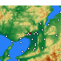 Nearby Forecast Locations - Minoh - Map