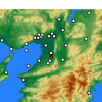 Nearby Forecast Locations - Habikino - Map