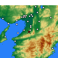 Nearby Forecast Locations - Kawachinagano - Map