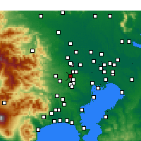 Nearby Forecast Locations - Higashikurume - Map