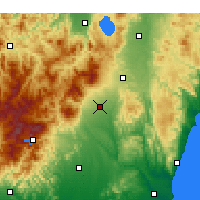 Nearby Forecast Locations - Nasushiobara - Map