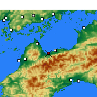 Nearby Forecast Locations - Saijō - Map