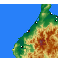 Nearby Forecast Locations - Komatsu - Map