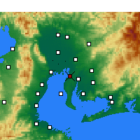 Nearby Forecast Locations - Tōkai - Map