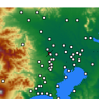 Nearby Forecast Locations - Fujimino - Map