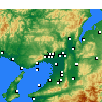 Nearby Forecast Locations - Ikeda - Map