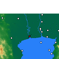 Nearby Forecast Locations - Samut Sakhon - Map