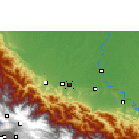 Nearby Forecast Locations - Chimoré - Map