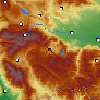 Nearby Forecast Locations - Velingrad - Map