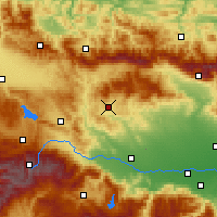 Nearby Forecast Locations - Panagyurishte - Map