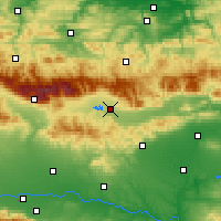 Nearby Forecast Locations - Kazanlak - Map