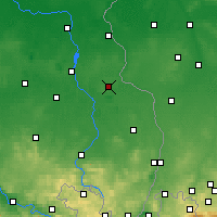 Nearby Forecast Locations - Weißwasser - Map
