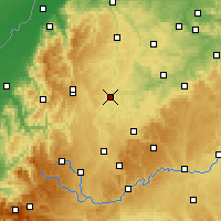 Nearby Forecast Locations - Horb am Neckar - Map