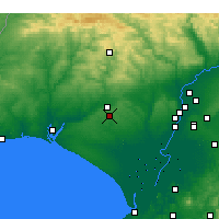 Nearby Forecast Locations - Bollullos Par del Condado - Map