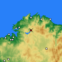 Nearby Forecast Locations - As Pontes de García Rodríguez - Map