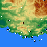 Nearby Forecast Locations - Saint-Maximin-la-Sainte-Baume - Map