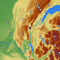 Nearby Forecast Locations - Bellegarde-sur-Valserine - Map