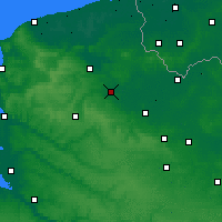 Nearby Forecast Locations - Aire-sur-la-Lys - Map