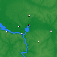 Nearby Forecast Locations - Novomoskovsk - Map