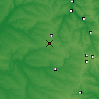 Nearby Forecast Locations - Pokrovsk - Map
