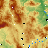 Nearby Forecast Locations - Podujevo - Map