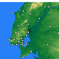 Nearby Forecast Locations - Castanheira do Ribatejo e Cachoeiras - Map