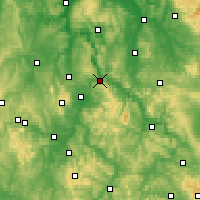 Nearby Forecast Locations - Hann. Münden - Map