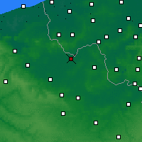 Nearby Forecast Locations - Armentières - Map