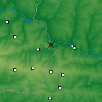 Nearby Forecast Locations - Donetsk - Map