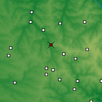 Nearby Forecast Locations - Toretsk - Map