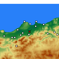 Nearby Forecast Locations - Sidi Moussa - Map