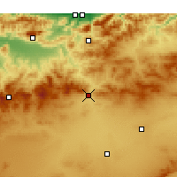 Nearby Forecast Locations - Ksar Boukhari - Map