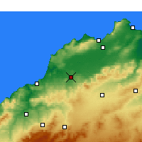 Nearby Forecast Locations - Hammam Bou Hadjar - Map