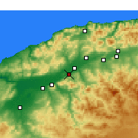 Nearby Forecast Locations - Boukadir - Map