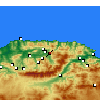 Nearby Forecast Locations - Azazga - Map