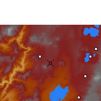 Nearby Forecast Locations - Boditi - Map