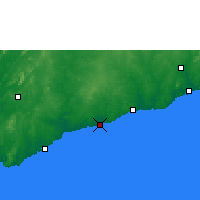 Nearby Forecast Locations - Elmina - Map