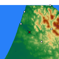 Nearby Forecast Locations - Ksar el-Kebir - Map