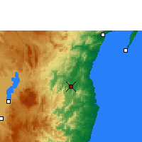 Nearby Forecast Locations - Vavatenina - Map