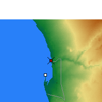 Nearby Forecast Locations - Swakopmund - Map