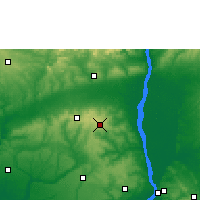 Nearby Forecast Locations - Uromi - Map